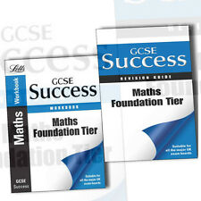 Letts GCSE Success Maths Foundation Tier Revision Guide Collection 2 Books Set