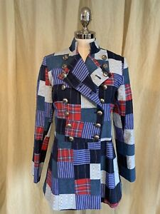 patchwork moloh Military Jacket Size 8 A Real Gem!