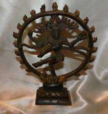 Vintage Brass Shiva Nataraja Figure Bronze Buddha Hindu Sculpture
