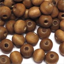 Lot de 100 Perles rondes en Bois 8mm Marron
