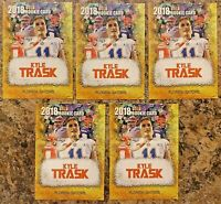 (5) 2018 Kyle Trask Florida Gators Gold Cracked Ice College Limited Rookie Card