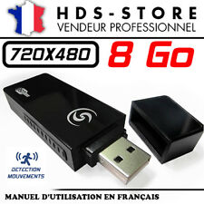 CLÉ USB CAMERA ESPION USBCAMU9 + MICRO SD 8 GO 480P DÉTECTION VIDÉO 720X480