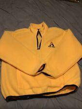 56980dfdf6b9 Champion 1 2 Zip Pullover Fleece Sweater Jacket Men s XL Custom Yellow ...