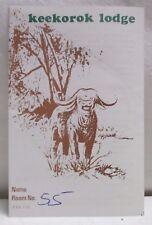 Vintage Keekorok Lodge Nairobi Kenya Africa Lodging Information Brochure