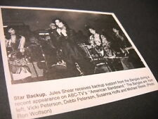 JULES SHEAR backed up by the BANGLES original music biz promo pic with text