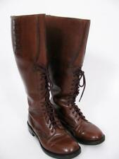 POLICE OXEBLOOD BROWN LEATHER RIDING MOUNTED MOTORCYCLE EQUESTRIAN BOOTS SHOE ~7
