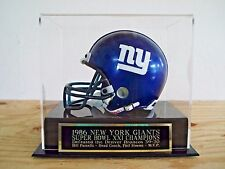 Football Mini Helmet Case With A Giants Super Bowl 21 Engraved Nameplate