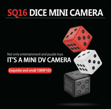 Mini Hidden Camera 1080P HD Dice Microphone Spy Hide Keychain Cam Security SQ16