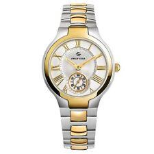 Philip Stein Women's 41TG-CWG-SSTG Round Two-Tone Gold Plated Bracelet Watch