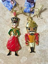 Disney Nutcracker and the Four Realms Ornaments Lot of 2 Metal Nwt