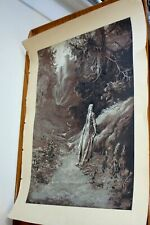 Antique fine quality  wood engraving signed G Dore