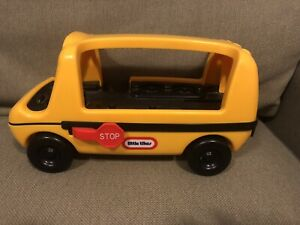 """Vintage Little Tikes School Bus Yellow Tots Toddler Toy NO PEOPLE 12"""""""