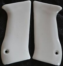 Jericho 941 pistol grips smooth pure white plastic