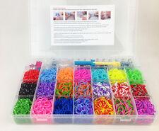 Kit Bracelet XL Loom Bands Raimbow Millenium 4200 Elastique + Accéssoires Perles