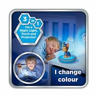 PAW PATROL CHASE 3 IN 1 MAGIC GO GLOW NIGHT LIGHT KIDS ROOM LIGHTING OFFICIAL