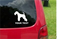 2 (Pcs) Lakeland Terrier Dog Decals with custom text 20 Colors To Choose From