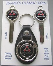 Dodge DART White Gold Deluxe Classic Key Set Fits  1966 1967 1968 1969 NOS Keys