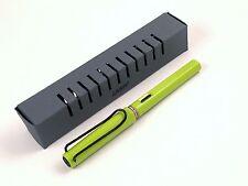 2008 Lamy Lime Green Black Cross Cap Top Black Clip - RARE Limited Fountain Pen