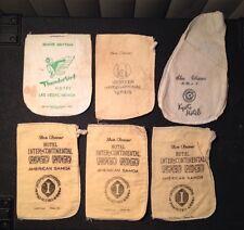 Lot Of 6 Vintage 1960s Hotel Shoe Shine Mittens Thunderbird Vegas Samoa Kyoto