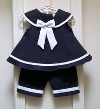 Rare Editions Baby Girl's Nautical/Sailor 2-Piece Outfit-Size-6M-9M