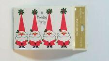 1960s Hallmark Christmas Holiday Party Santa Claus Set of 8 Invitations Vintage