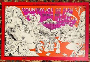 BG-149 COUNTRY JOE & FISH TERRY REID  FILLMORE ORIGINAL POSTER CONKLIN 1968 SALE