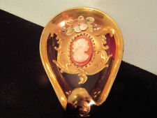 Vintage Cenedese Murano Italy Cameo Ruby Glass Jewelry Dish