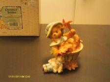Cherished Teddies ! Pat - Falling for You- w/ barrel & pinwheel 1995