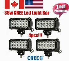 4x 7 INCH 36W CREE LED LIGHT BAR SPOT FLOOD BEAM 4X4 OFF-ROAD TRUCK SUV LAMP 7""