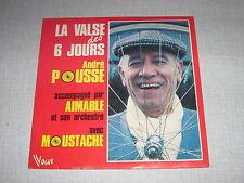 ANDRE POUSSE AIMABLE MOUSTACHE 45 TOURS FRANCE