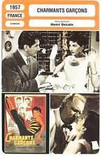 CHARMANTS GARCONS - Jeanmaire,Gélin,Decoin (Fiche Cinéma) 1957 - Charming Boys