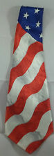 "Men's Novelty Tie Flag Patriotic Red White Blue Polyester 59"" designs by A Roger"
