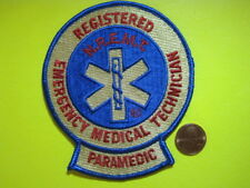 NREMT PARAMEDIC PATCH RETIRED OLD SCHOOL VERSION LOOK!*