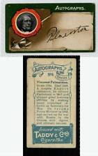 (Gd082-303) Taddy, Autographs, 1912 G-VG, #4 Viscount Palmerston