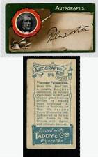 (Gd082-303) Taddy, Autographs, 1912 G-VG, #4 Viscount Palmerston