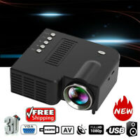 1080P Portable Mini LED Projector HD 3D Video Home Theater Cinema Multimedia