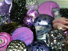 NEW RANDOM PICK 25/pc Jesse James mixed beads lot loose Beads Purple/blacks