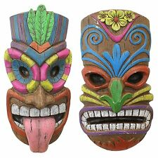 Wall Hanging Mask Hawaii Hawaiian Art Tropical Decor Tiki Bar Hut Decoration