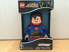 "LEGO Superman 9"" Figure Digital Alarm Clock - NEW"