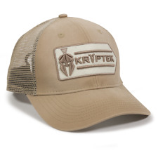 Kryptek Logo Mesh Back Hunting Hat Khaki Trucker Hat