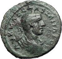 SEVERUS ALEXANDER 222AD Amphipolis in Macedonia Tyche Ancient Roman Coin  i73713