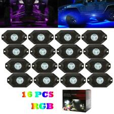 16x RGB LED Rock Lights For JEEP Truck Off-Road Trail Fender Underbody Rocklight