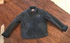 Smallville ABERCROMBIE & FITCH Men's Work Jacket Heavy Duty Gray L