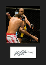 ANDERSON SILVA #1 (UFC) Signed Photo A5 Mounted Print - FREE DELIVERY