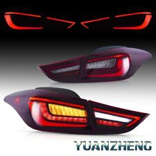 For Hyundai Elantra 2011-2016 Rear Lamps w/ Sequential Turn Red LED Tail Lights