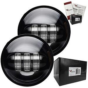 """Eagle Lights 4 1/2"""" (4.5"""") Harley Davidson LED Black Passing / Fog Lights"""