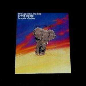 TOPICAL, ANIMALS, TANZANIA, 1997, ELEPHANTS, SOUVENIR SHEET, MNH, LOT #58, LQQK