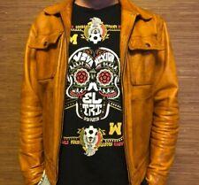 Marlboro Classics BIKER's Leather Brown Jacket size XL - L USED