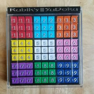 Rubiks Sudoku Number Puzzle Travel Game Brain Teaser Trainer Family Fun Cased