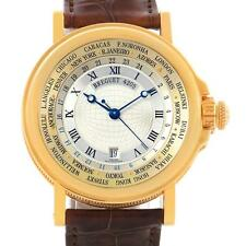 Breguet Marine World Time Hora Mundi 18K Yellow Gold Watch 3700